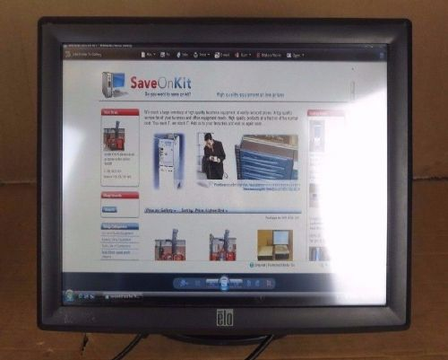 "Elo TouchSystem Touch Screen 1715L 17""Desktop Touchmonitor Touchscreen  +Stand"